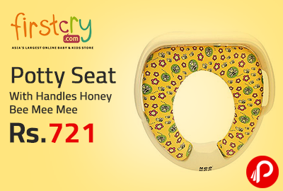 Potty Seat With Handles Honey Bee Mee Mee at Rs.721 - Firstcry