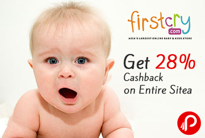Get 28% Cashback on Entire Site - Firstcry