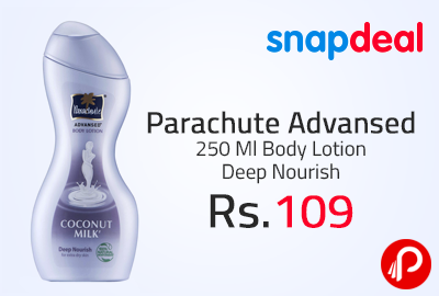Parachute Advansed 250 Ml Body Lotion Deep Nourish at Rs.109 - Snapdeal