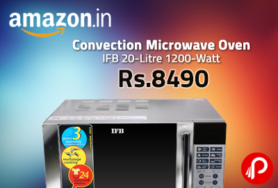 Convection Microwave Oven IFB 20-Litre 1200-Watt at Rs.8490 - Amazon