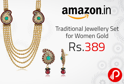 Traditional Jewellery Set for Women Gold at Rs.389 - Amazon