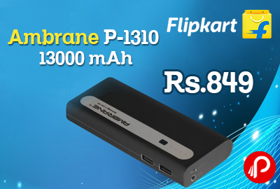 Ambrane P-1310 13000 mAh at Rs 849 - Flipkart