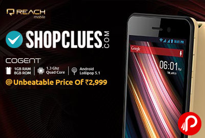 Exclusive Cognet 1GB RAM, 4inch, 1.3 Quad core Mobile Only in Rs. 2999 - Shopclues