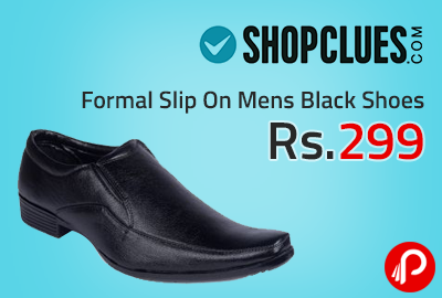 Formal Slip On Mens Black Shoes at Rs.299 - Shopclues