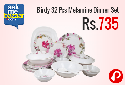 Birdy 32 Pcs Melamine Dinner Set at Rs.735 - AskMeBazaar