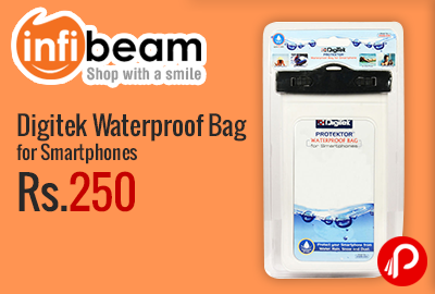 Digitek Waterproof Bag for Smartphones at Rs.250 - Infibeam