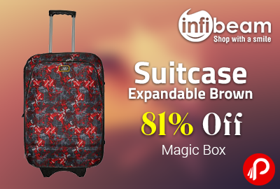 Suitcase Expandable Brown 81% off - Infibeam