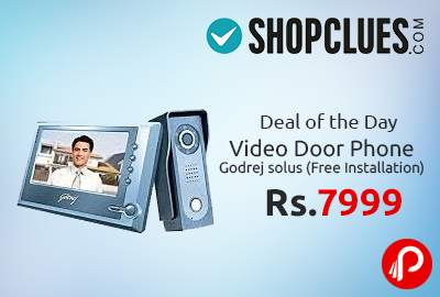 1ebefe8a1f5 Video Door Phone Godrej Solus (Free Installation) at Rs.7999 – Shopclues