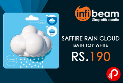 Saffire Rain Cloud Bath Toy white at Rs.190 - Infibeam