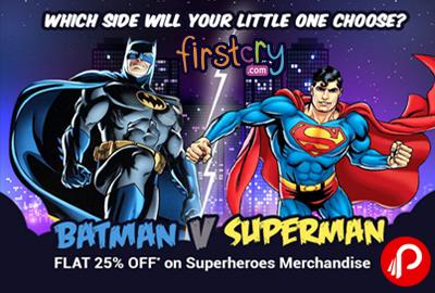 Batman Vs Superman Merchandise Flat 25% off - FirstCry