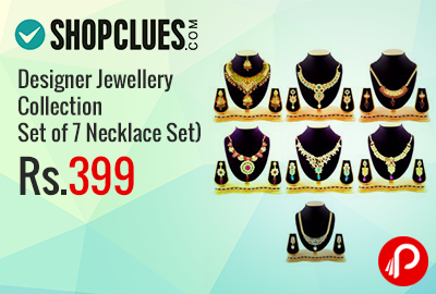 Designer Jewellery Collection (Set of 7 Necklace Set) at Rs.399 - Shopclues