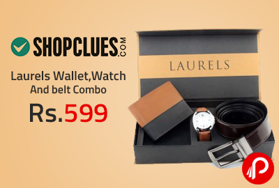 Laurels Wallet,Watch And belt Combo at Rs.599 - Shopclues