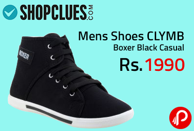 Mens Shoes CLYMB Boxer Black Casual at Rs.299 - Shopclues