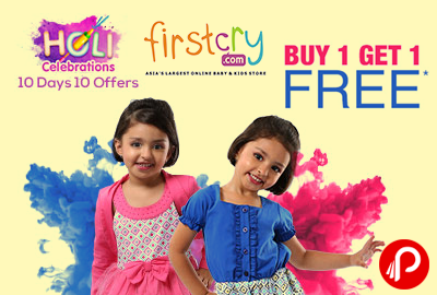 Holi Celebrations Buy 1 Get 1 Free on Biggest Fashion Catalogue - Firstcry