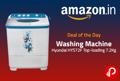 Washing Machine Hyundai HYS72F Top-loading 7.2Kg at Rs.7499 - Amazon