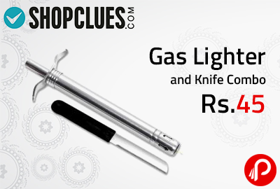Gas Lighter and Knife Combo at Rs.45 - Shopclues