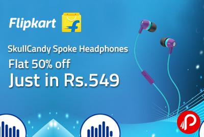 SkullCandy Spoke Headphones just in Rs.549 Flat 50% off - Flipkart