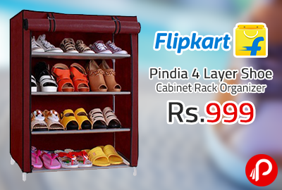 Pindia 4 Layer Shoe Cabinet Rack Organizer at Rs.999 - Flipkart
