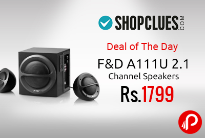 F&D A111U 2.1 Channel Speakers 33% off at Rs.1799 - Shopclues