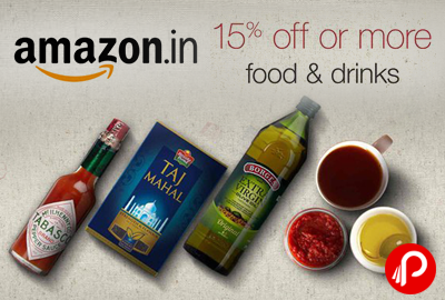 Food and Drinks Products Upto 15% off - Amazon
