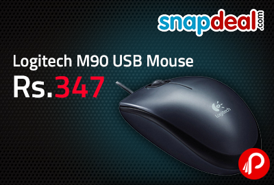 Logitech M90 USB Mouse at Rs.347 - Snapdeal
