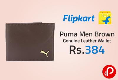 Puma Men Brown Genuine Leather Wallet at Rs.384 - Flipkart