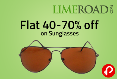 Flat 40-70% off on Sunglasses - Limeroad