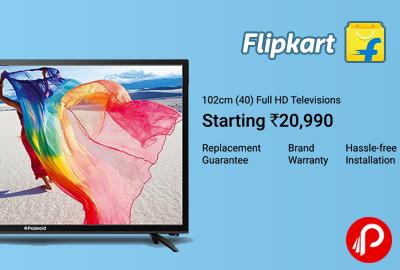Full HD Televisions 102cm (40) Starting Rs.20990 – Flipkart