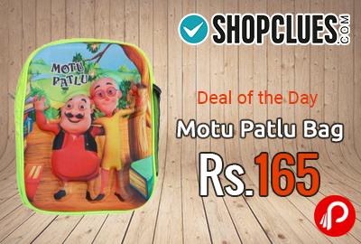 Motu Patlu Bag at Rs.165 | Deal of the day - Shopclues
