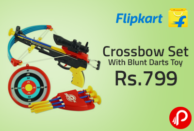 Crossbow Set With Blunt Darts Toy at Rs 799 - Flipkart