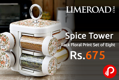 Spice Tower Rack Floral Print Set of Eight at Rs.675 - Limeroad