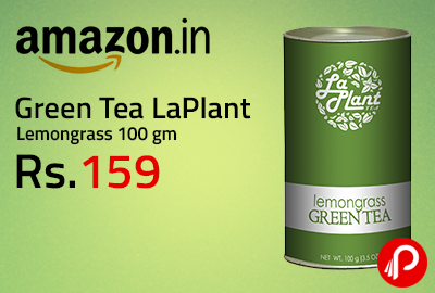 Green Tea LaPlant Lemongrass 100 gm at Rs.159 - Amazon