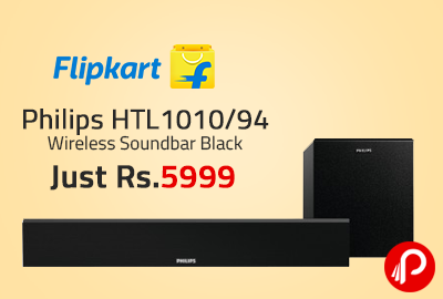 Philips HTL1010/94 Wireless Soundbar Black Just Rs.5999 - Flipkart
