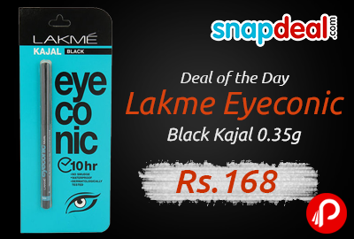 Lakme Eyeconic Black Kajal 0.35g at Rs.168 - Snapdeal