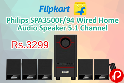 Philips SPA3500F/94 Wired Home Audio Speaker 5.1 Channel at Rs.3299 - Flipkart