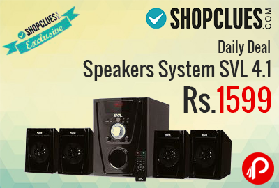 Speakers System SVL 4.1 just in Rs.1599 - Shopclues