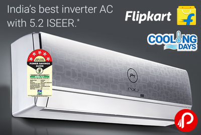 Inverter Split AC 1.5 Tons Godej 11% off at Rs.58990 - Flipkart
