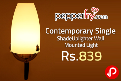 Contemporary Single Shade Uplighter Wall Mounted Light at Rs.839 - Pepperfry