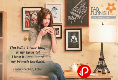 Tribute To Paris Table Lamp at Rs.6300 | Kalki Favorite Look - Fabfurnish