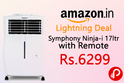 Get 30% off on Symphony Ninja-i 17ltr with Remote Just Rs.6299 - Amazon