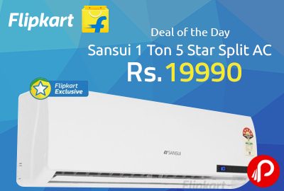 Sansui 1 Ton 5 Star Split AC at Rs.19990 - Flipkart
