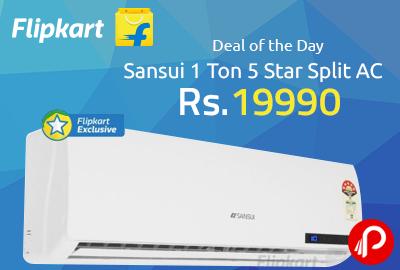 Sansui 1 Ton 5 Star Split AC at Rs.19990 - Flipkart