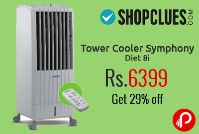 Tower Cooler Symphony Diet 8i at Rs.6399 | Get 29% off - Shopclues