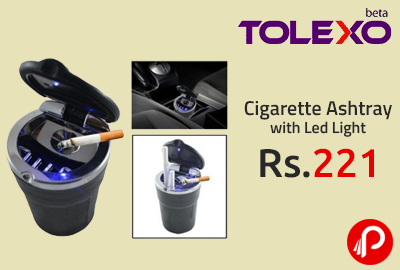 Cigarette Ashtray with Led Light at Rs.221 - Tolexo