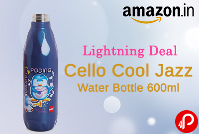 Water Bottle Cello Cool Jazz 600ml at Rs.125 - Amazon