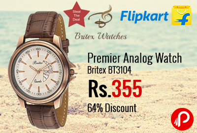 Premier Analog Watch Britex BT3104 64% Discount at Rs.355 - Flipkart