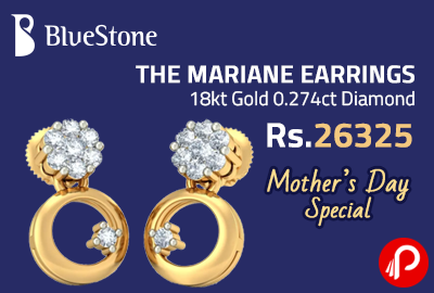THE MARIANE EARRINGS 18kt Gold 0.274ct Diamond at Rs.26325 - Bluestone