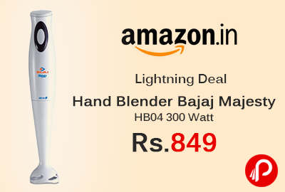Hand Blender Bajaj Majesty HB04 300 Watt at Rs.849 - Amazon