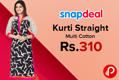 bd25ca22ef0 Kurti Straight Multi Cotton at Rs.310 - Snapdeal