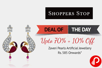 Get Upto 70% + 10% off on Artificial Jewellery - Shoppers Stop